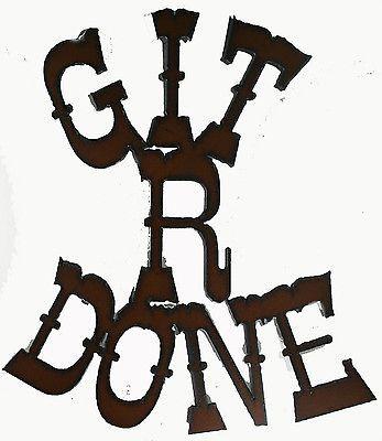Rodeo Funny Magnet Git R Done Western Decor Cowboy Art Kitchen Frige Magnet