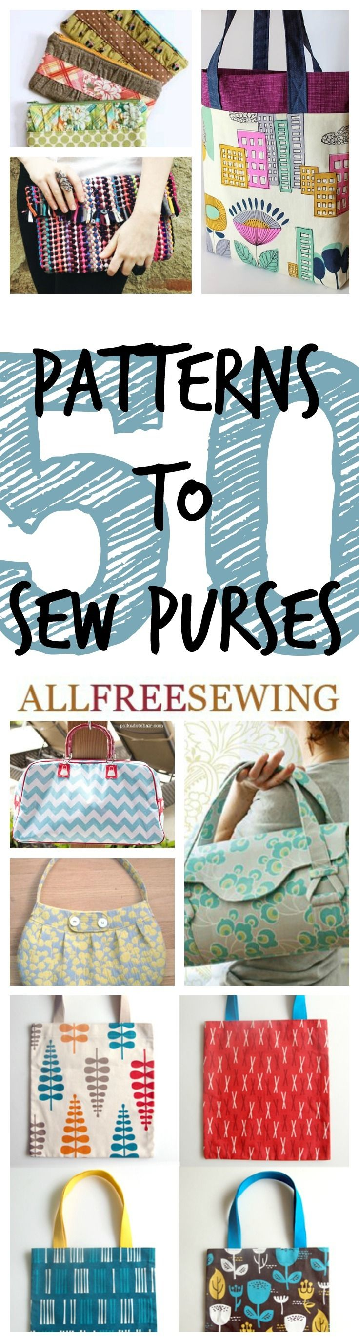 50+  Patterns to Sew Purses