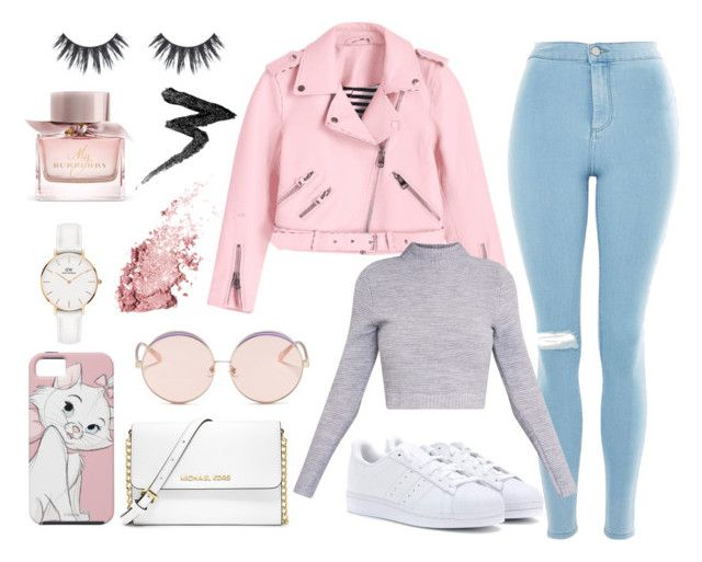"""""""Party night"""" by tess-302 on Polyvore featuring Topshop, adidas Originals, MICHAEL Michael Kors, N°21, Daniel Wellington, Burberry and Manic Panic NYC"""