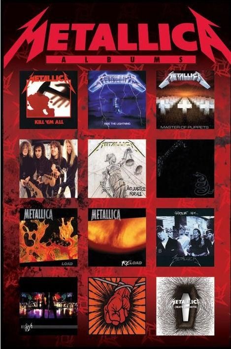 "MetallicA Album Covers: ""Kill 'Em All"", ""Ride The Lightning"", ""Master Of…"