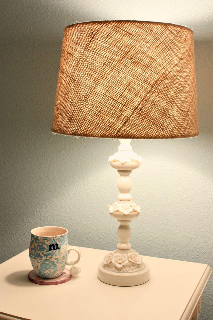 122 best Burlap Lamp Shades images on Pinterest   Burlap lamp ...