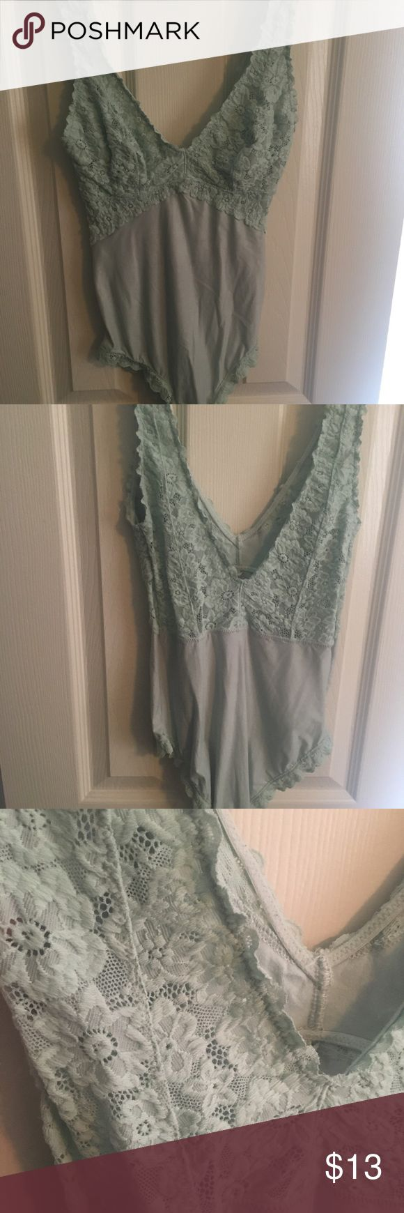 Aerie Mint Green Bodysuit Light and comfortable bodysuit. In good condition. From a pet and smoke free home. Make me an offer! aerie Tops