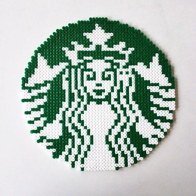 Starbucks logo perler beads by perler_art - Pattern…