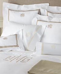 bedding: Decor, Interior, Bedroom Guest Ideas, Master Bedrooms, Monogramed Bedding, Alaina S House, Bedroom Ideas