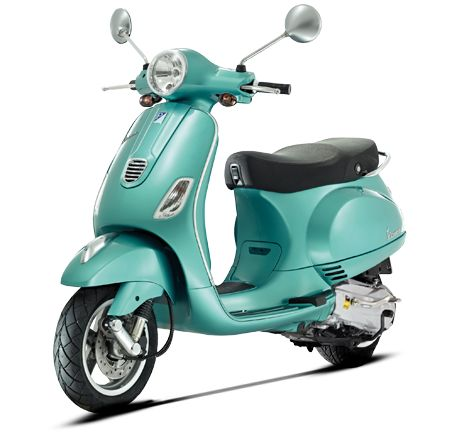 Vespa LX 50 4V  ~  gas mileage: 85-90 mpg  ~  max speed: 39 mph  ~  Classic design, eco-friendly, 4-valve engine