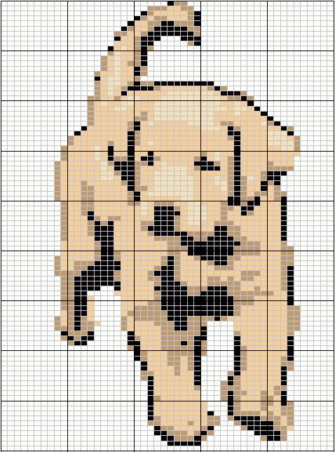 Knitting Pattern Design Grid : 17 Best images about Mochila haken/patronen honden-dogs on Pinterest Perler...