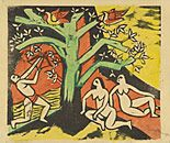 Killing of the Banquet Roast, 1911, Max Pechstein, MoMA | German Expressionism Themes: Primitivism
