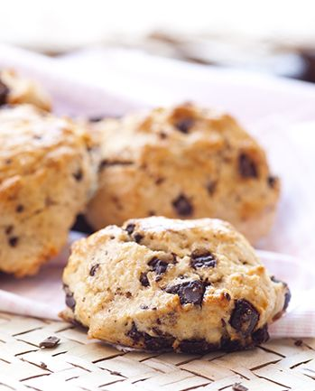 Scones com Pepitas de Chocolate
