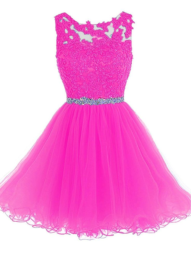 Shine Love 2016 Women's Short Beaded Prom Dress Tulle Applique Evening Gown HD002 *** You can get more details by clicking on the image.