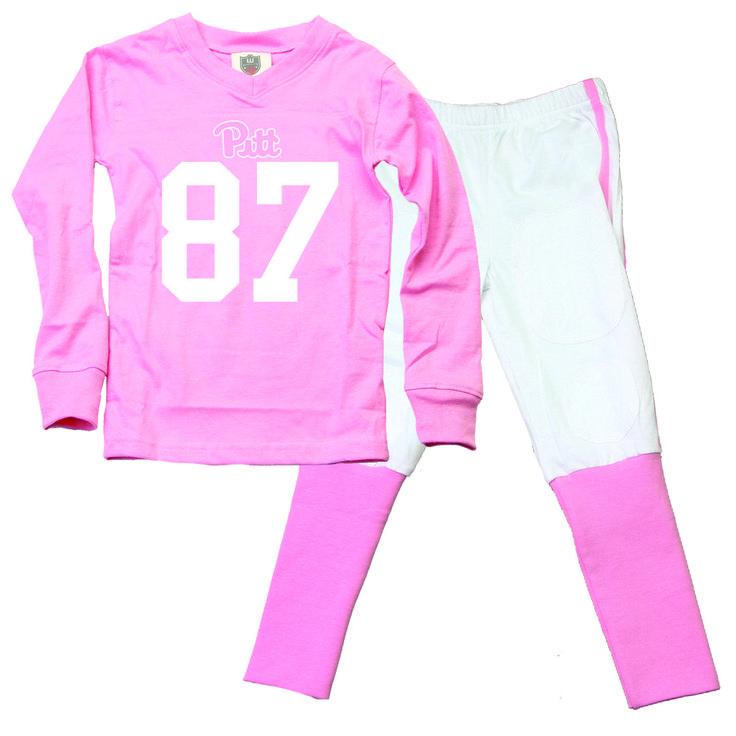 University of Pittsburgh Pitt Football Cheerleader Children Youth Pajama Set