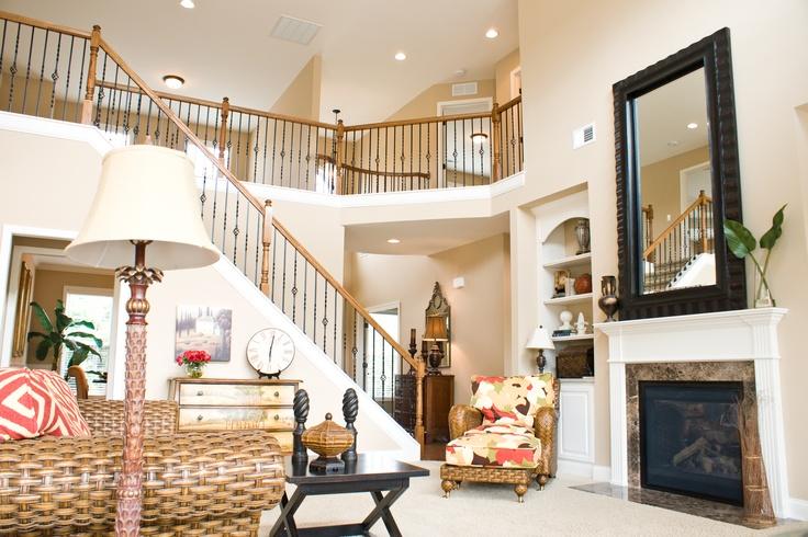 Model Home Living Room living room of ball homes' hudson model home. | the hudson