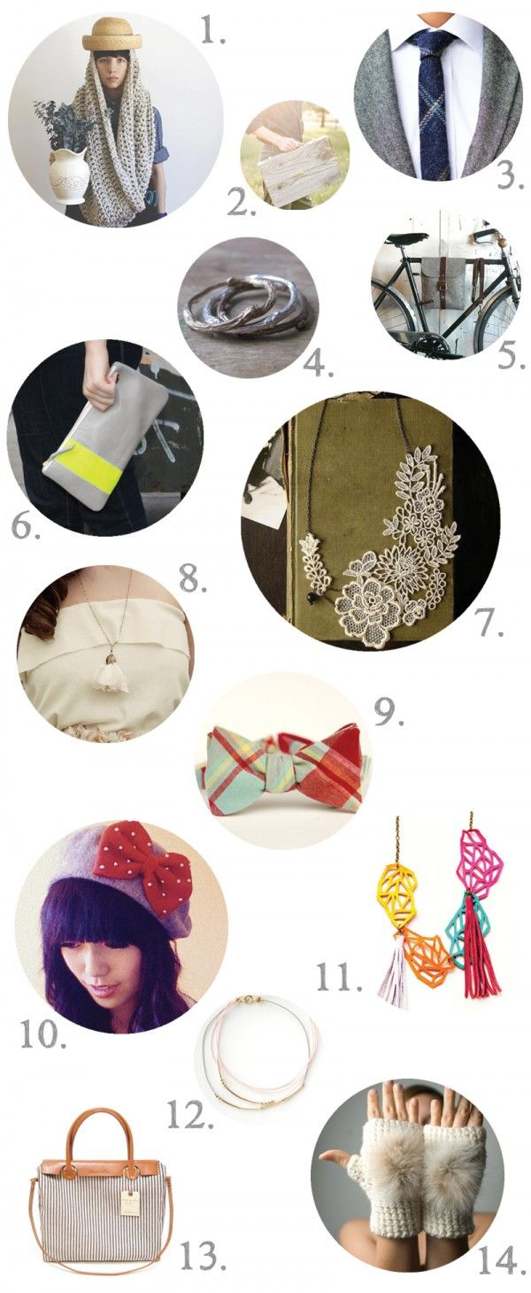 Handmade Accessory Gift Guide for Women & Men!