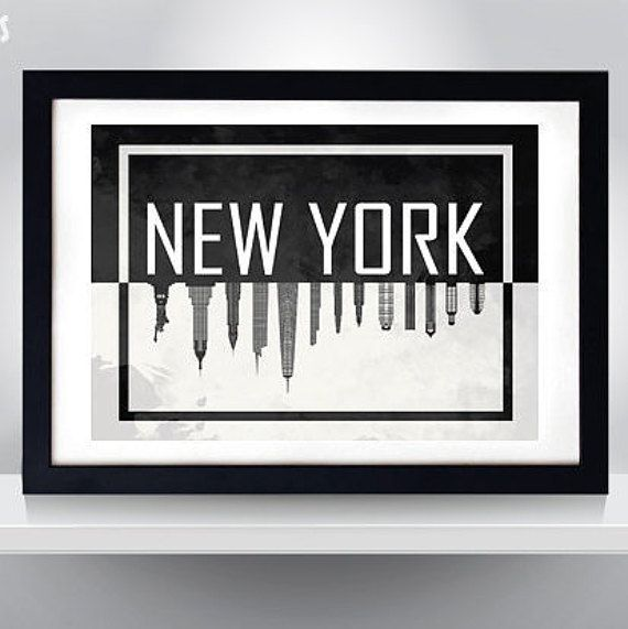 Hey, I found this really awesome Etsy listing at https://www.etsy.com/listing/238905430/new-york-silhuette-poster-wall-art-print