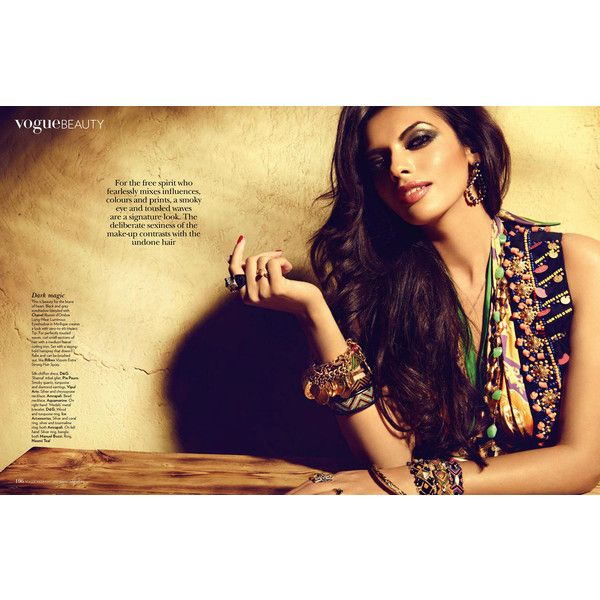 Gabriela Bertante by Dirk Bader for Vogue India May 2012 ❤ liked on Polyvore featuring models