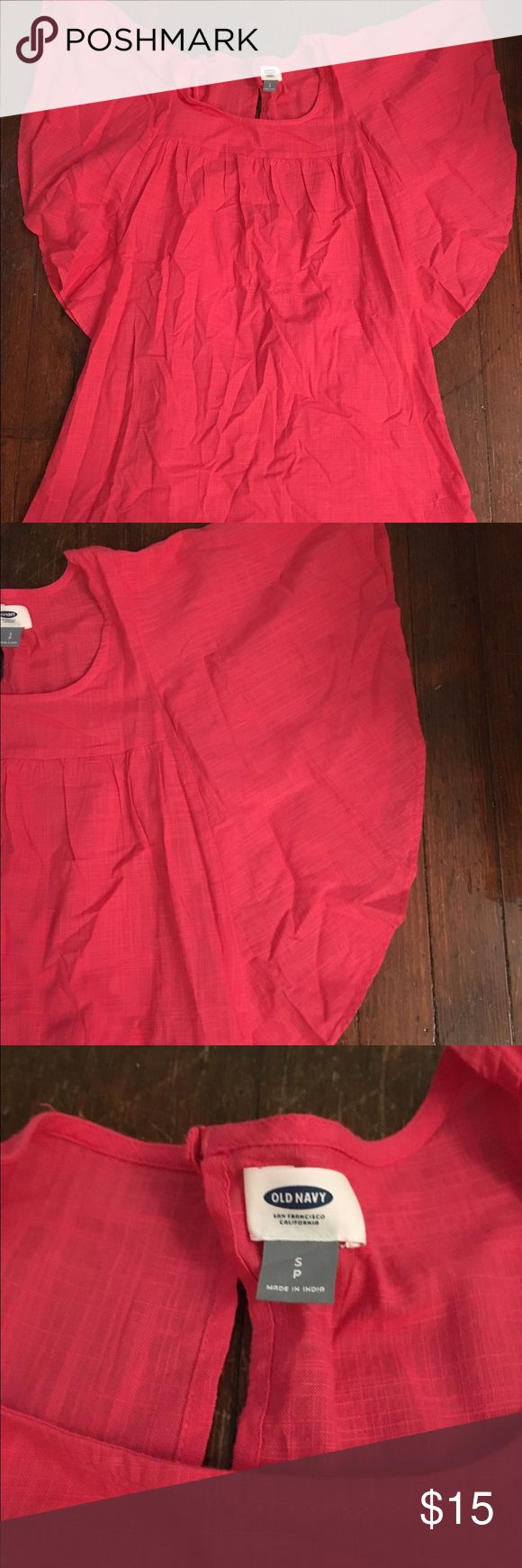 Pink sun dress Very light weight, cute, will steam or iron before sale Old Navy Dresses Midi