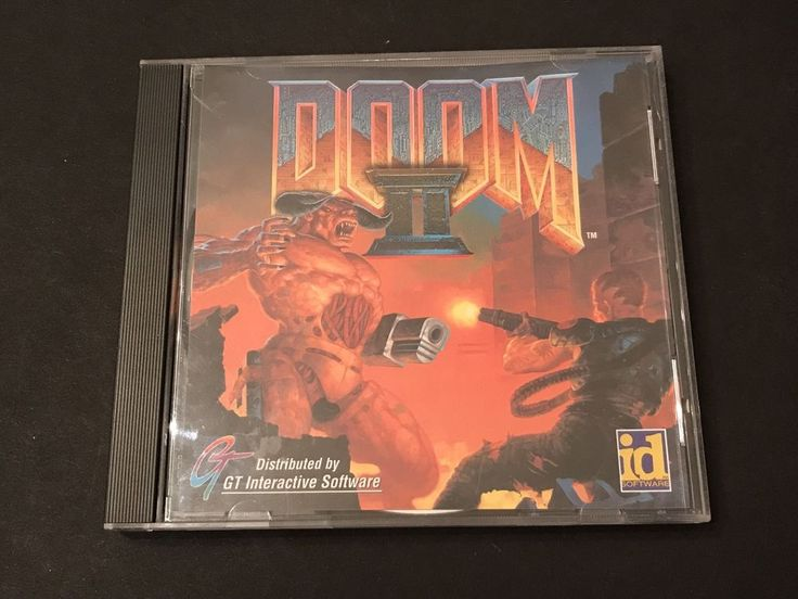 Doom 2 PC WIN 95/98 First Person Shooter Video Game ID 1994 Art Jewel Case