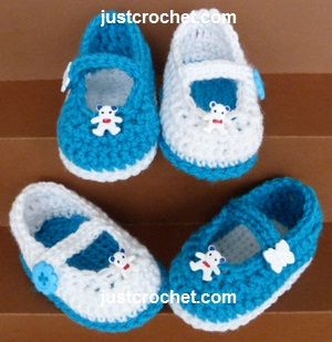 Free baby crochet pattern mary-jane-shoes usa