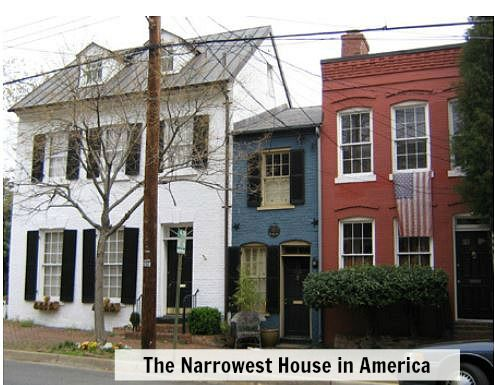 The Spite House in Alexandria VA.  I frequently walked past this little gem and wondered about its provenance.