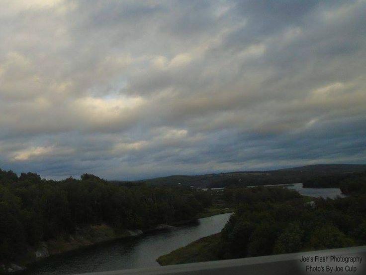 Meduxinakaeg River as seen from Trans Canada 2 in Woodstock New brunswick September 1st 2017