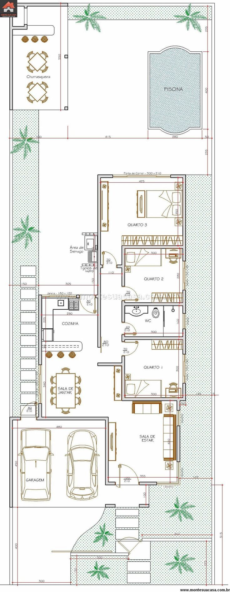Casa 3 Quartos - 115.01m²