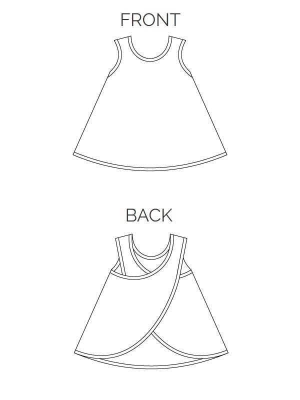 FLORA merry-go-round apron sewing pattern - sizes 158-42 (Kids M-Womens L) ~ Zierstoff