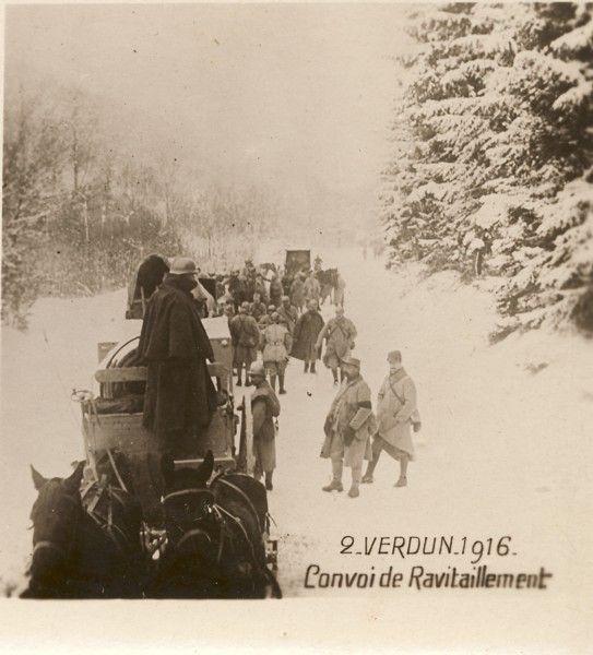 Verdun, 1916; Supply Convoy. WW1. Centenaire de 14-18