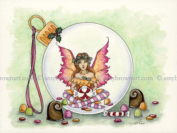 ORIGINAL WATERCOLOR PAINTING Fairy by Amy Brown by AmyBrownArt
