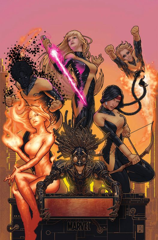 First off, I love the New Mutants. Call me crazy, but I always thought they were cooler than the X-Men.  Blame Art Adams.  Second, this art style is really fantastic. Just...wow.