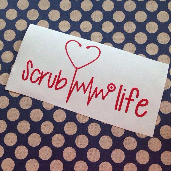 Friegue la vida Etiqueta de enfermera por MMVinylCreations
