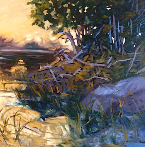 Summers End by Sara Alex Mullen. Ottawa artist, Canadian artist, landscape art, SANTINI GALLERY.