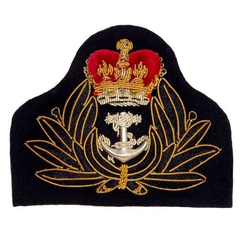 Army Officer's cap badges are gold and silver bullion wire embroidered. Hud Badges make Navy Cap Badges, Crown and Star badges in sew on variety and with Velcro backing. http://hudbadges.com/detail.php?live=1_0_0_45