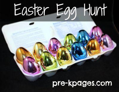 Easter Egg Hunt for #Preschool and #Kindergarten via www.pre-kpages.com