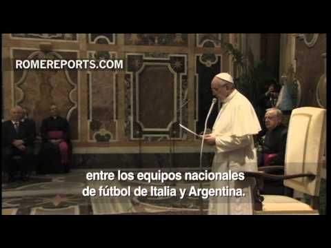 http://www.romereports.com/palio/todo-preparado-en-roma-para-homenajear-al-papa-francisco-con-un-espectaculo-futbolistico-spanish-10808.html#.Ug4XwpJ7IVU Todo preparado en Roma para homenajear al Papa Francisco con un espectáculo futbolístico