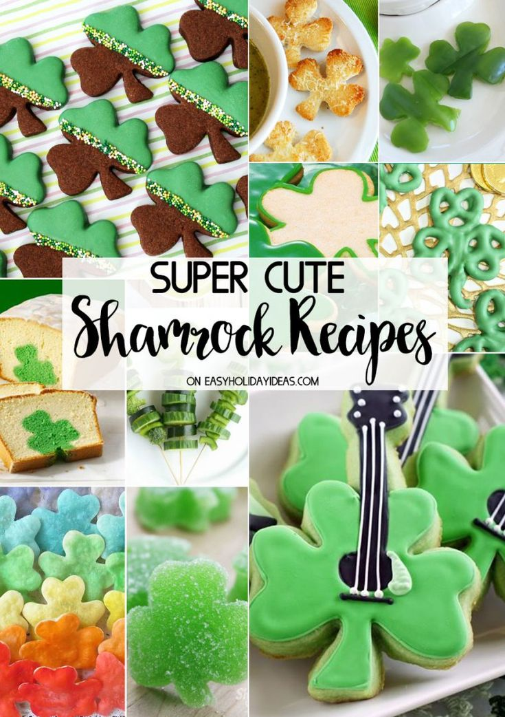 May the luck of the Irish be with you while you enjoy these CUTE SHAMROCK RECIPES for cutout cakes, cookies, cupcakes and more fun snacks & treats on St. Patrick's Day.