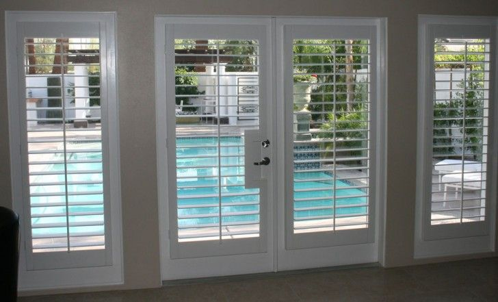 Home & Apartment, Cool Amazing Nice Wonderful Fantastic Nice Adorable  Shutter For French Door With Two Doors And Two Side Light Windows Concept Wooden Made ~ Cool and Nice Design of Shutter For French Doors