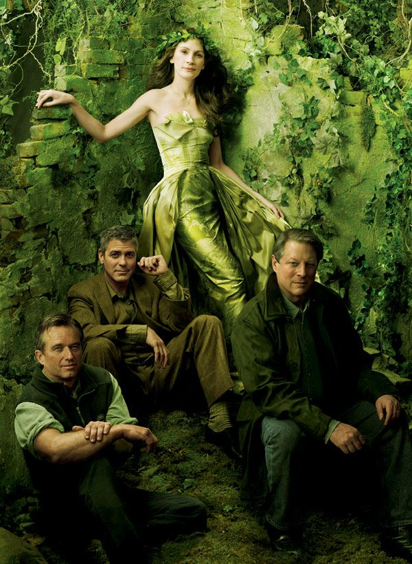 Robert Kennedy, Jr., George Clooney, Julia Roberts and Al Gore by Annie Leibovitz