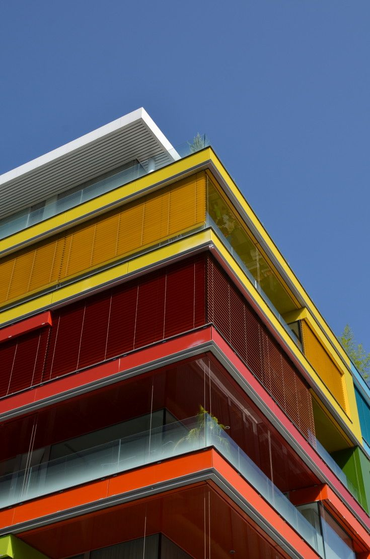 Film and Photo Shoot Locations in Budapest: Colorful Modern Facade