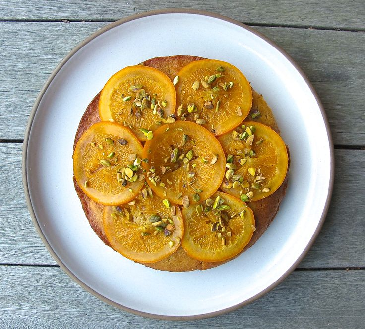 Olive Oil Semolina Cake with Candied Orange