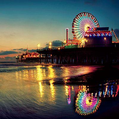 A virtual postcard has never looked so beautiful! Greetings from the Santa Monica Pier and Coastal Living.