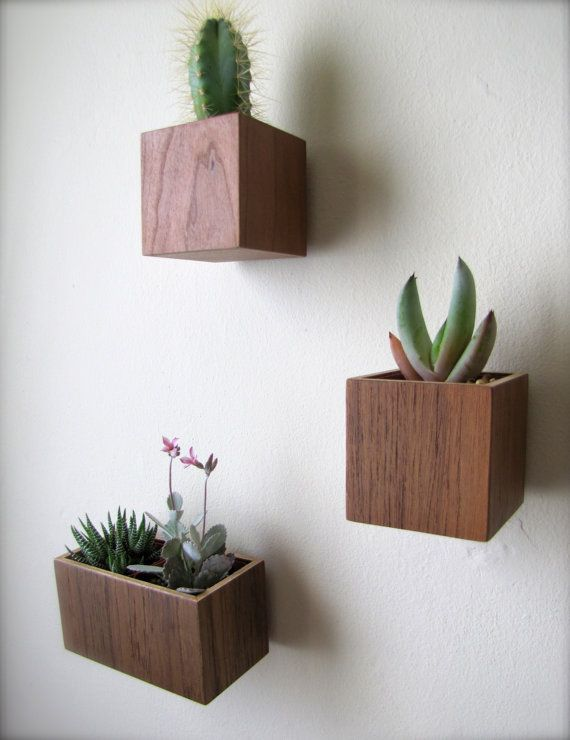 wall planter plant holder succulent holder made from