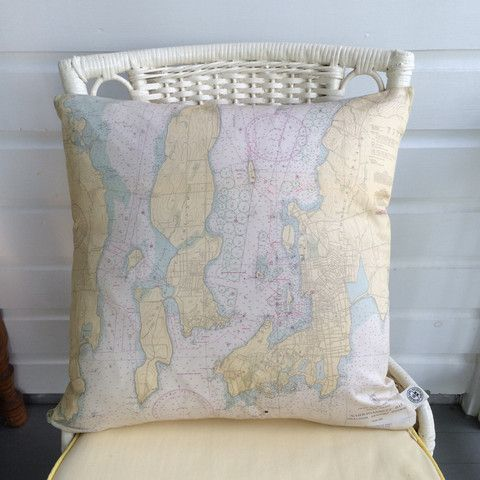 33 best Vintage Nautical Chart Pillows by The Golden Cleat images on