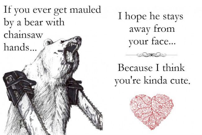Awwww I would love to get this as a valentines card!