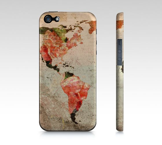 "#ArtOfWhere iPhone+5+/+5S+""Another+vintage+world+map""+by+Marosée+Créations"