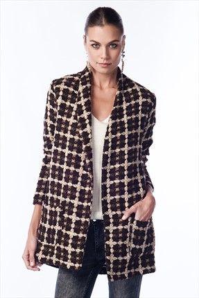 Trend: Ofisten Şehre by Pretty Mark - Kadın Tekstil - Kahve Kaban 1006145 %31 indirimle 54,99TL ile Trendyol da