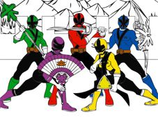 Play Power Rangers Cartoon Coloring Game Online