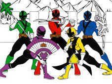 Play Power Rangers Cartoon Coloring Game Online