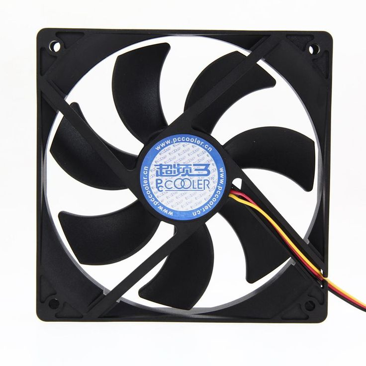 "Vodool 4.72 ""12 cm Gdt DC 12 V 3 Draad 34 Pin 120*120*25mm Grote Cooling Cooler PC Computer Case Fan Luchtstroom"