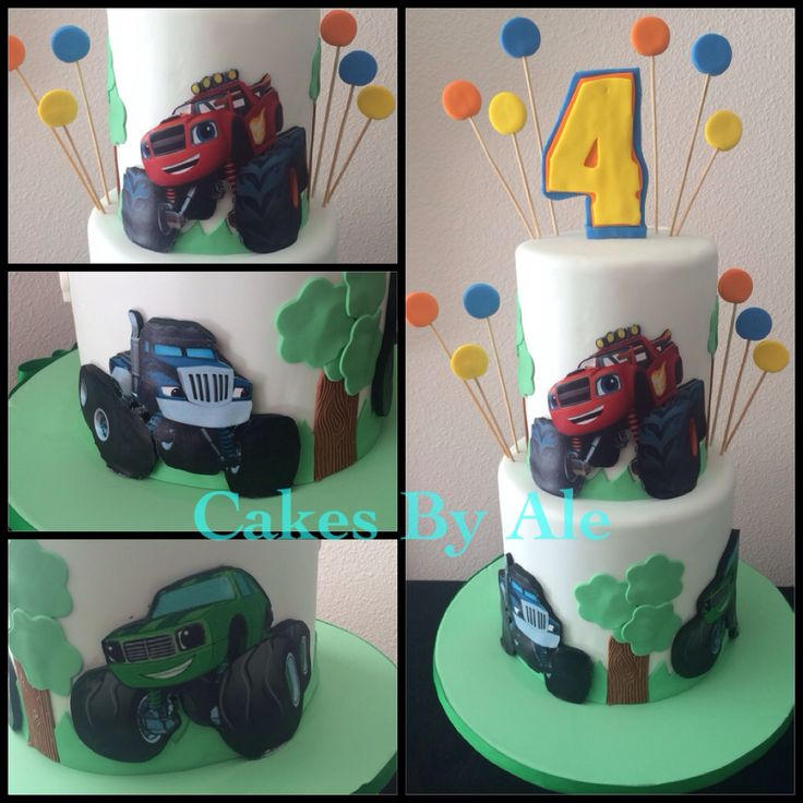 how to make a blaze and the monster machines cake