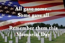 The Sunday before Memorial Day at one point was known as Decoration Day….the day when veterans would lay flowers on the graves of vets.  There is a lot of discussion as to when the very first was observed.  Some say it was in Columbus, Georgia when a group of widows and orphans decorated the graves …