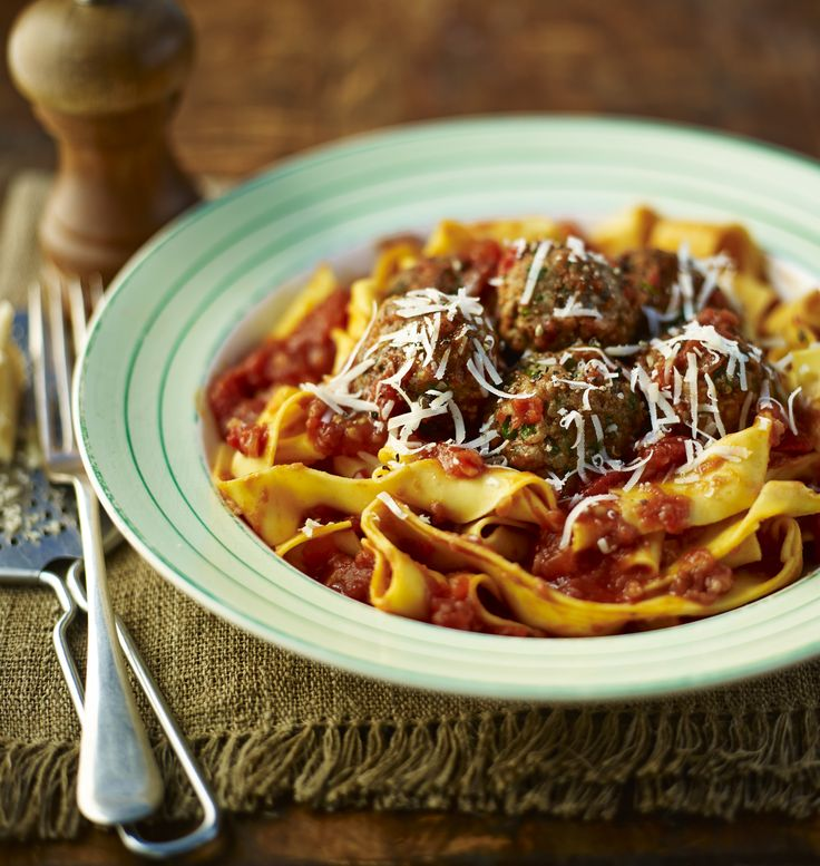 Meatballs and pasta in a rich tomato sauce. Good enough for MasterChef, but still simple and cheap to make - what's not to love?